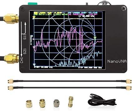 Analizador de Antena Digital de Onda Corta (MF HF VHF UHF UV VNA, 50 kHz-900 MHz, medición de los parámetros S, relación de Onda de tens