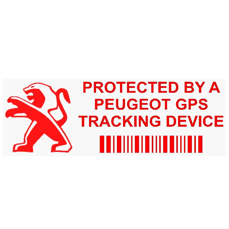 """5/St/ück mit Schriftzug in englischer Sprache Fensteraufkleber /""""GPS Tracking Device Security/"""" 87 x 30 mm f/ür Auto//Van rot"""
