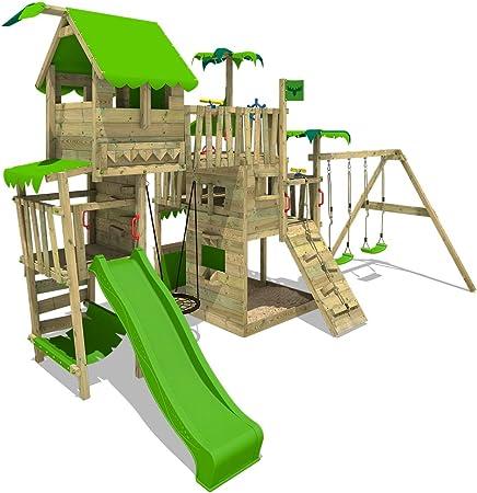 FATMOOSE Parque infantil de madera PacificPearl Pro XXL con ...
