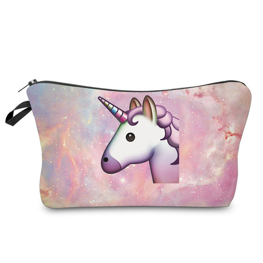 3d Impreso Neceser Unicornio caliente venta de conservación para mujeres Make Up Viaje veranstalter almacenar Beautisch