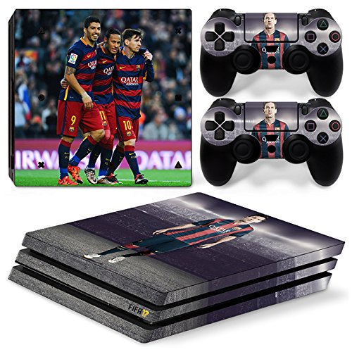 Price comparison product image FriendlyTomato PS4 Pro Console and DualShock 4 Controller Skin Set - Soccer Football - PlayStation 4 Pro