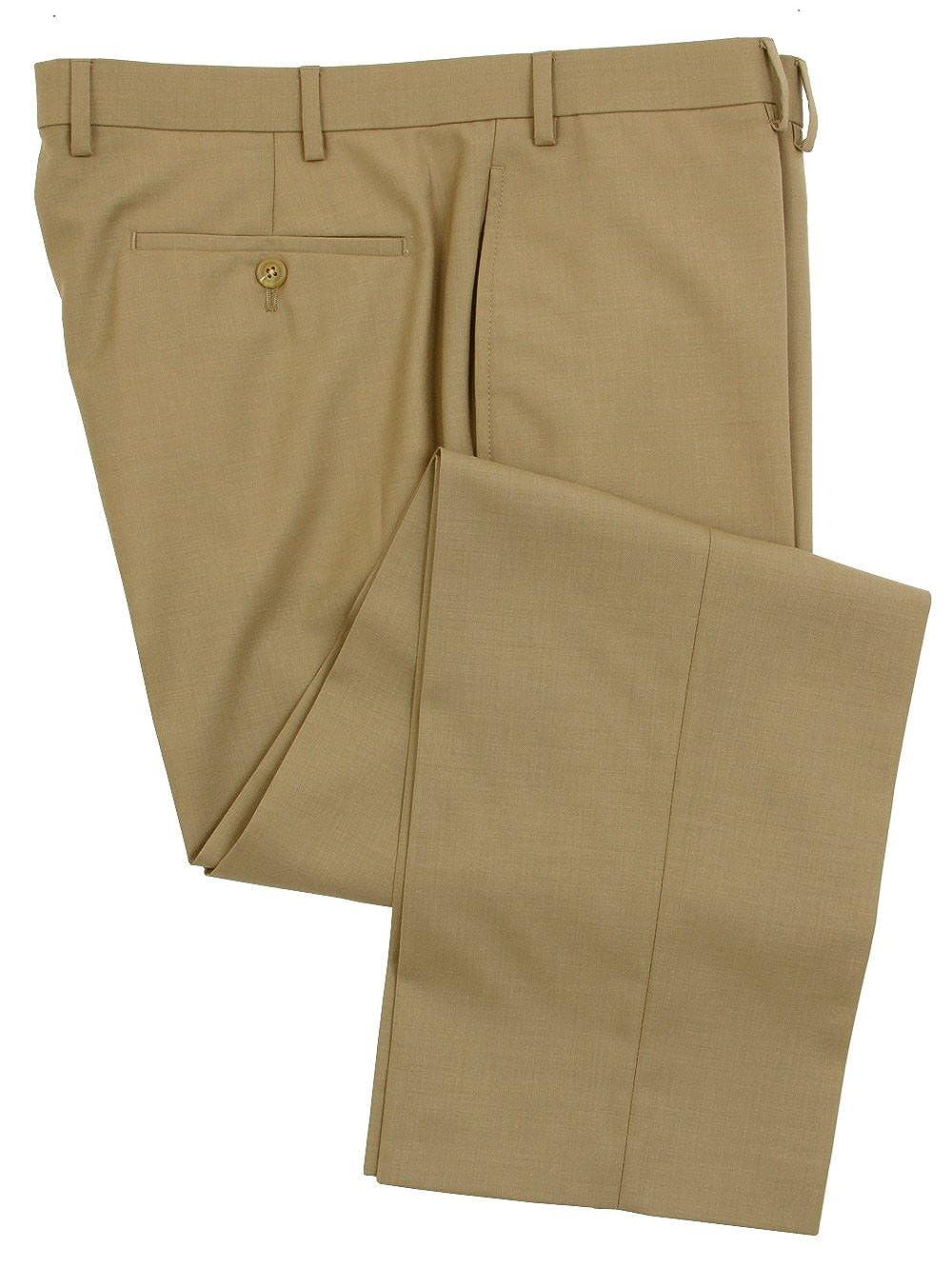 Ralph Lauren Wool Dress Pants For Men Classic Flat Front Style Trousers CAX0002