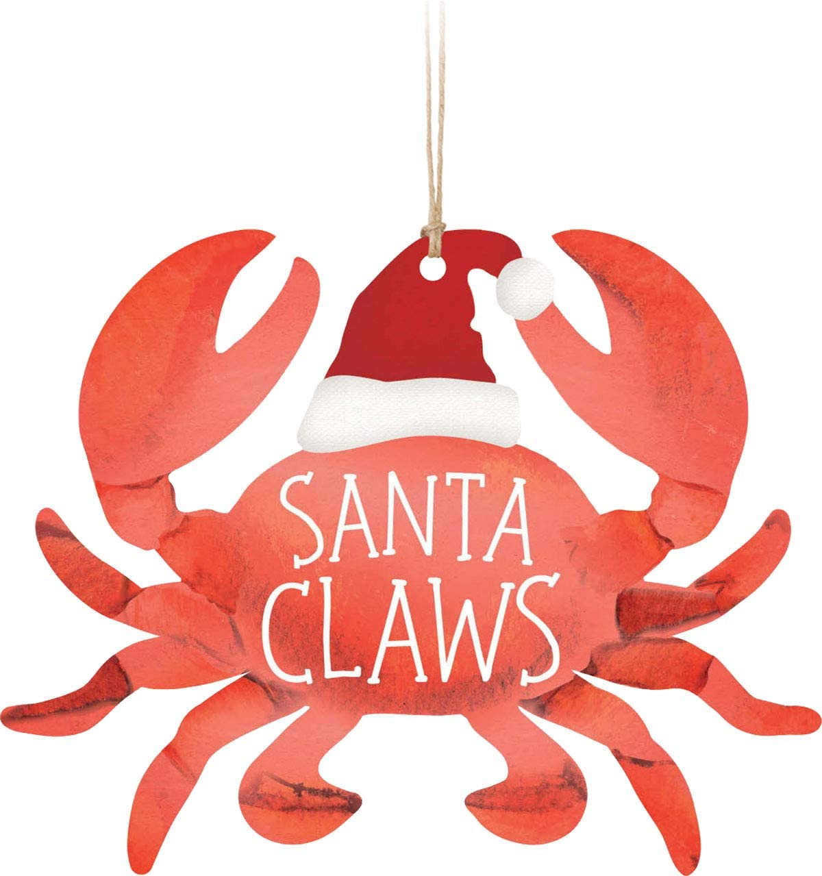 Amazon Com Santa Claws Rosy Red 3 8 X 3 Wood Decorative Hanging Figurine Ornament Kitchen Dining