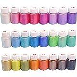 SUPVOX 24Pcs Mica Powder Pearl Natural Pigment Set for Soap Making Nail Art 10g/Bottle