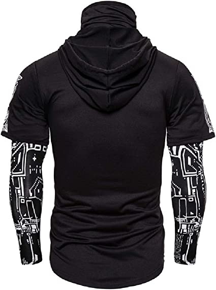 Bravepe Men 3D Print Relaxed Fit Crewneck Casual Active Long Sleeve Pullover Sweatshirt Tops