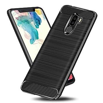 Funda Xiaomi Pocophone F1 TopACE Carcasa Protectora Back Soft Cover Absorción de Choque Resistente y diseño de Fibra de Carbono para Xiaomi Pocophone ...