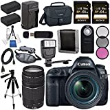 Canon EOS 5D Mark IV DSLR Camera with 24-70mm f/4L Lens 1483C018 + Canon EF 75-300mm f/4-5.6 III Telephoto Zoom Lens Bundle Review