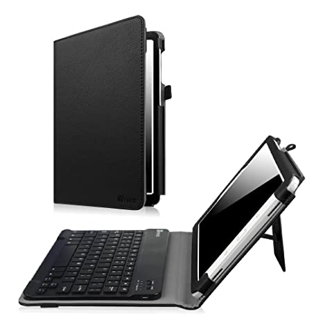 size 40 f67f6 606c9 Samsung Galaxy Tab A 10.1 with S Pen Keyboard case, Fintie Slim Fit Folio  PU Leather Case Cover with Detachable Magnetical Bluetooth Keyboard for Tab  ...