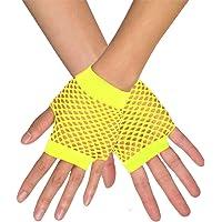 Unisex Regenbogen Netzhandschuhe Mesh Fischnetz Lange Fingerlose Handschuhe