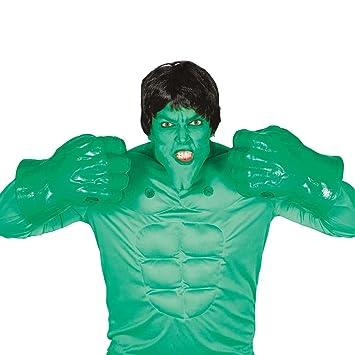 Amakando Manos de Monstruo Verde Guantes de Hulk Outfit ...