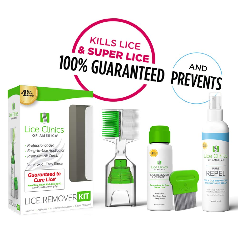 Lice Treatment Kit + Daily Prevention Conditioning Spray by Lice Clinics - Cure & Repel Lice with Complete Kit...