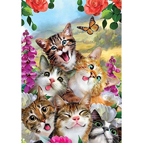 (Custom Decor Garden Flag - Cat Selfie)