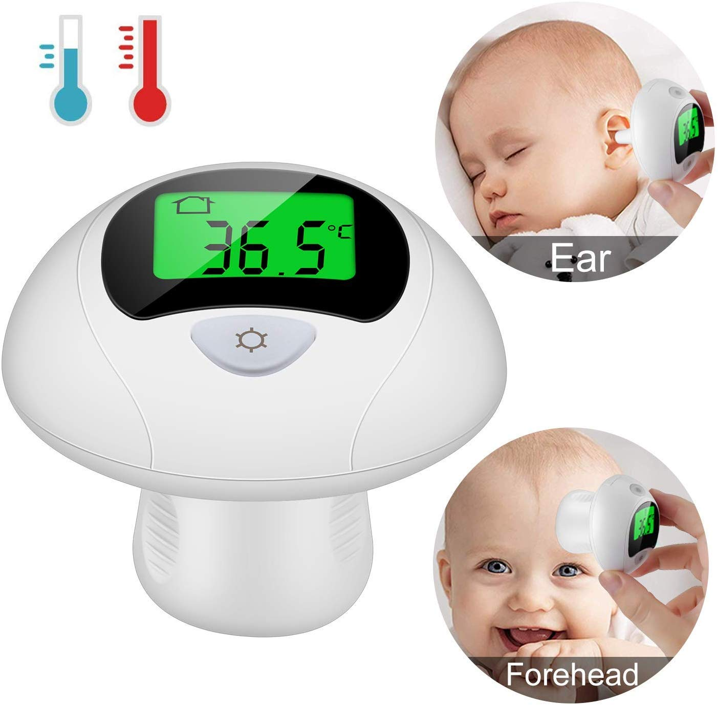 Viedouce Baby Thermometer Ear Forehead Thermometers for Fever Kids and Adults, 4-in-1 Digital Thermometer, Instant Read, F Convertible, Mute Function