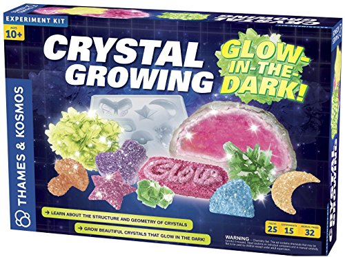 Thames & Kosmos Glow in the Dark Crystal Growing Kit is a cool gift for tweens in 2018