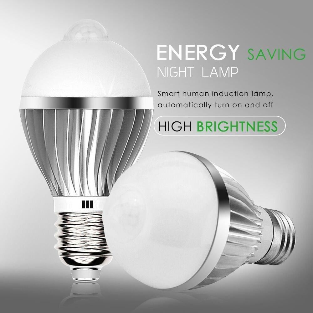 Automatic led energy saving night lamp - Irainy E27 5w Led Infrared Motion Sensor Pir Warm Light Bulb Lamp Auto Switch Stairs Light Amazon Com