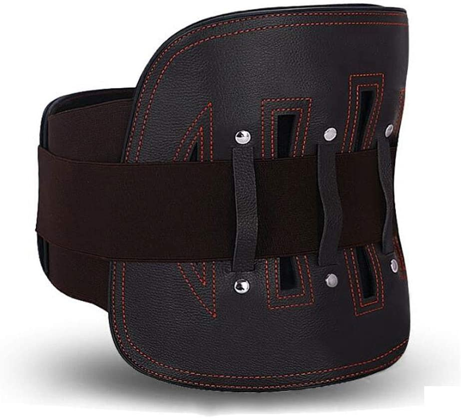 Fajas Simple Cinturón de Cuero con Disco intervertebral Adulto Transpirable Que sobresale Placa de Acero Atada Liuyu. (Size : 118cm)