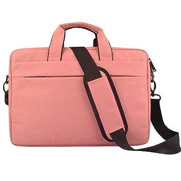 Bolso Bandolera para Ordenador portátil o portátil (Color Rosa, tamaño: 35,56 cm): Amazon.es: Electrónica