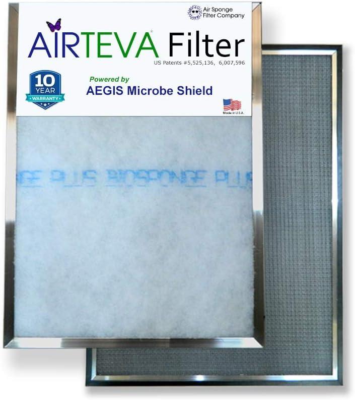 BioSponge Plus Replacement 1 AIRTEVA 13 1//2 x 23 1//2 AC Filter//Furnace Filter with