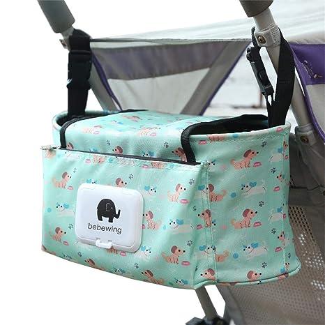 Hanging Bag Stroller Accessory Nylon Bottle Organizer Baby Carriage Storage Bag