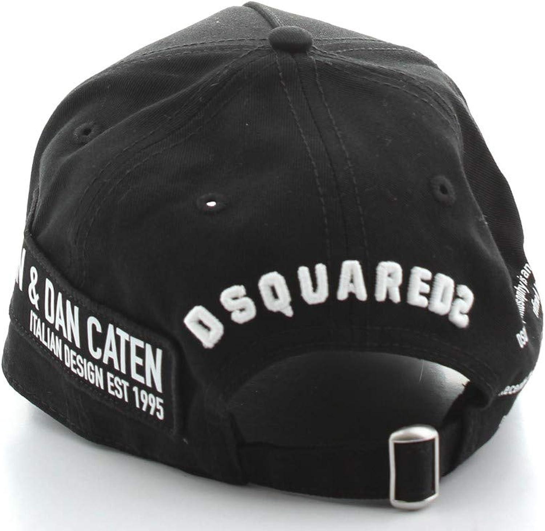 CAPPELLO BASEBALL CAP DA UOMO NERO BCM029005C00001M063 DSQUARED2