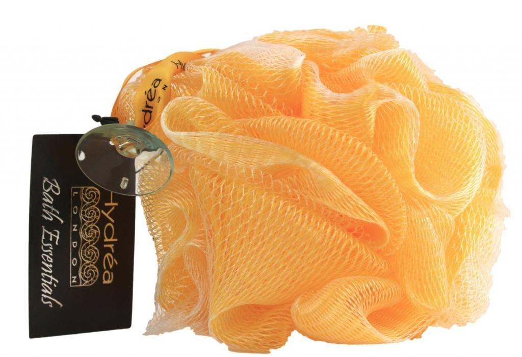 High Quality Exfoliating Body Puff / Scrunchie /Buffer - Yellow - Bath & Shower Hydrea London