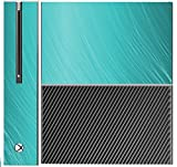 Teal Aqua Wavy Lines Design Background Xbox One Console Vinyl Decal Sticker Skin by Moonlight Printing