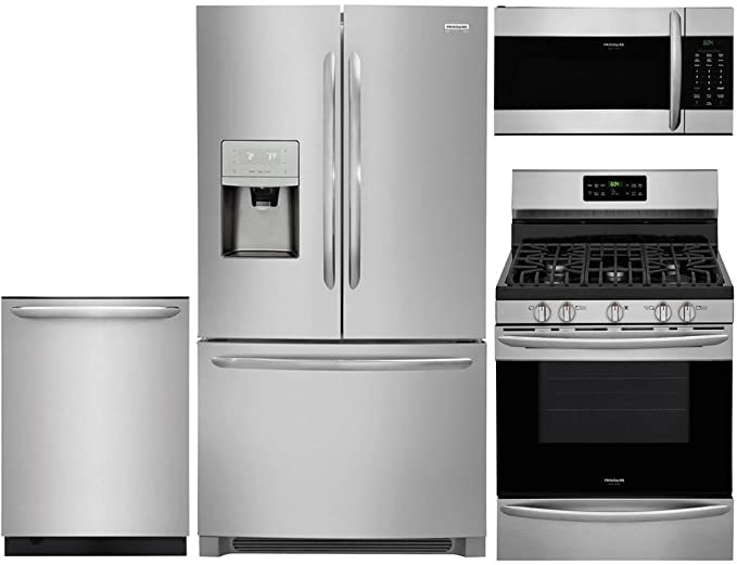 Amazon Com Frigidaire 4 Piece Stainless Steel Kitchen Package With