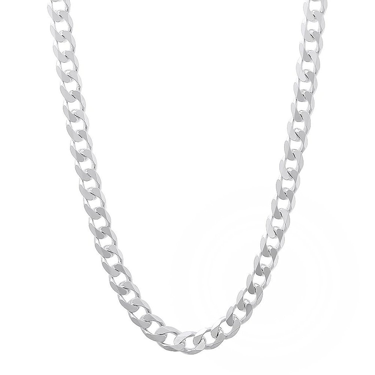 Italian Sterling Silver Curb Chain - 3.5mm - 26'' Necklace