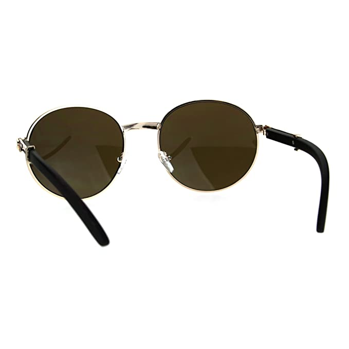 SA106 Retro Art Nouveau Vintage Style Small Oval Metal Frame Sunglasses