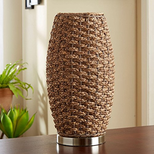 Better Homes and Gardens Rattan Cylinder Uplight Table Lamp