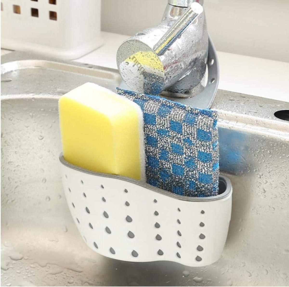 Zonster Kitchen Sink Mensola Organizzatore Scarico Scaffale Beige SMYTShop Sink Caddy Sapone e Porta Spugna stendino titolari Piatto Stendino Sink Shelf