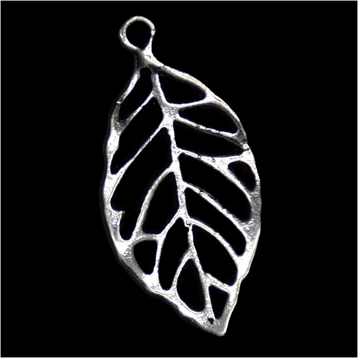 Pack of 80 Hollow Leaves Charms Pendants Silver Craft Supplies for Jewelry Making Tibetan Accessories for Bracelets Necklace DIY