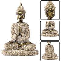 Prokth resina statua di Buddha in resina retro statua decorativa da giardino giardino statua di Buddha seduto statua di Buddha in meditazione, Resina, E