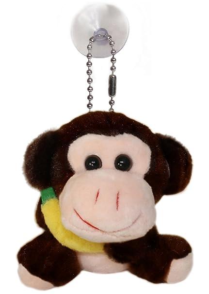 Amazon.com   Lucore Happy Monkey Plush Stuffed Animal Keychain ... eb544e9d6839