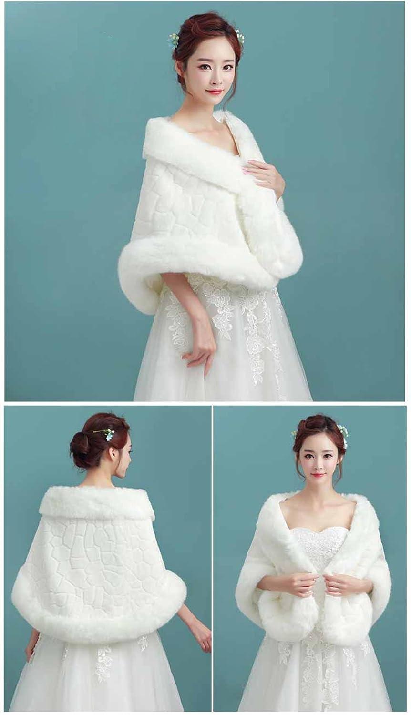 Angel Formal Dresses Women\'s Faux Fur Wrap Shaw Stole Wedding Jacket ...