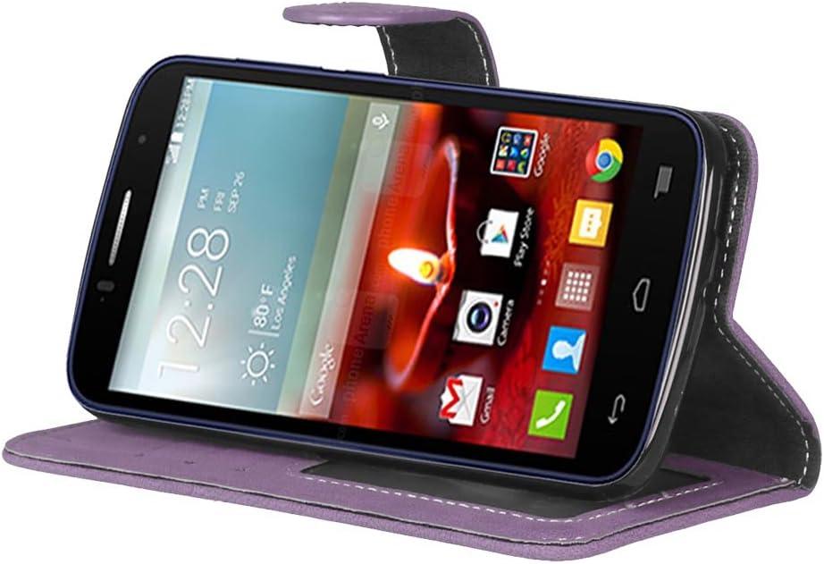 BONROY/® Coque One Touch Fierce 2 7040T /Étui Housse Flip Case Coque en PU Cuir Housse /Étui /à Rabat pour One Touch Fierce 2 7040T