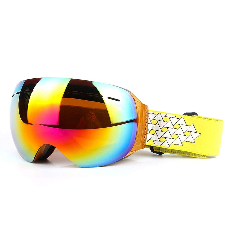 Sportsonnenbrille Herren Damen Herren Borderless Skibrille Doppelte Anti Fog Skibrille Große Kugelförmige Windschutzbrille Aus Kokain Myopie