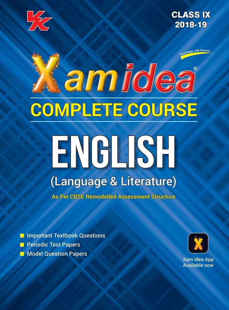 Xam Idea Complete Course English Class 9 - 2019 Exam: Amazon.in: VK Global  Publications: Books