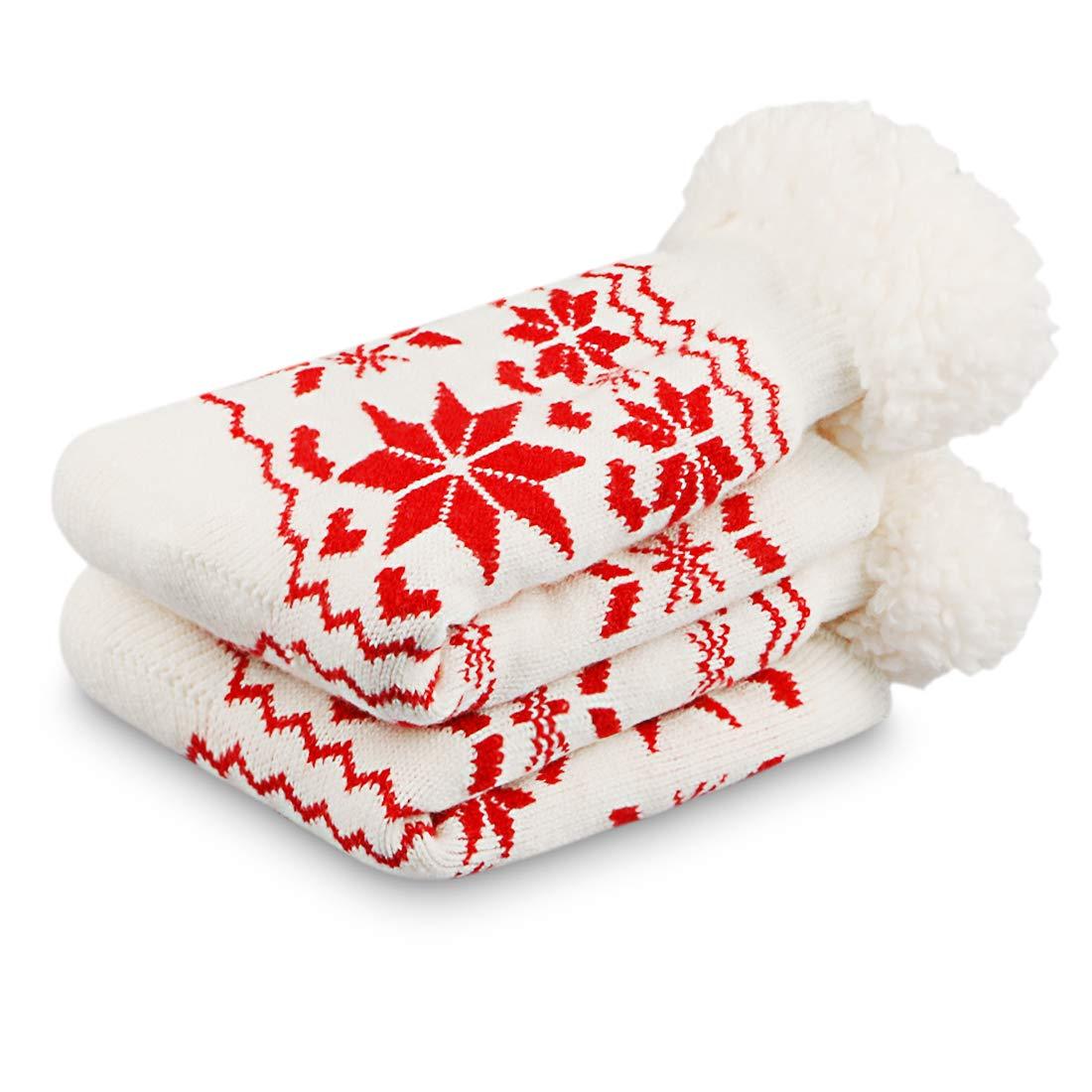 Damen Winter Stoppersocken dicke Haussocken mit Anti Rutsch Sohle Warme Kuschelsocken
