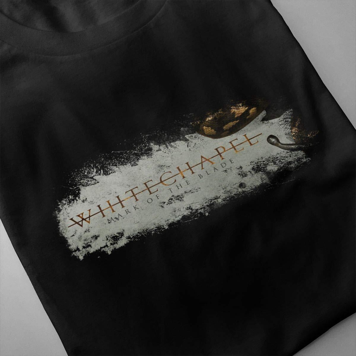 FengYuqi Whitechapel Mens Short Sleeves T Shirt Classic T Shirt Leisure T Shirt Black