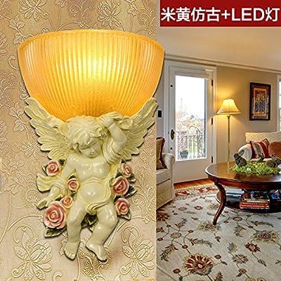 Lampe Murale De Style Européen Créatif Chambre Lit Enfant Ange Lampe LED  Chaud Salon Mur Du Corridor Des Lumières Décoratives, 7702 Ampoule LED +  Beige ...