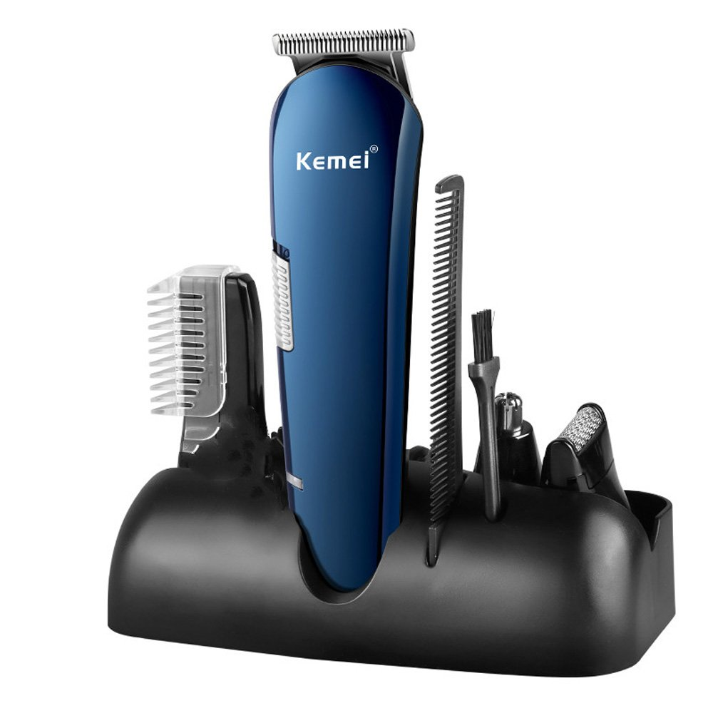Grooming Kit, Enthur 8 in 1 Professional Mens Shaver Rechargeable Waterproof Beard and Mustache Trimmer,Noes and Ear Hair Trimmer, Hair Clippers for Men Barbers Salon with 3 Guide Combs