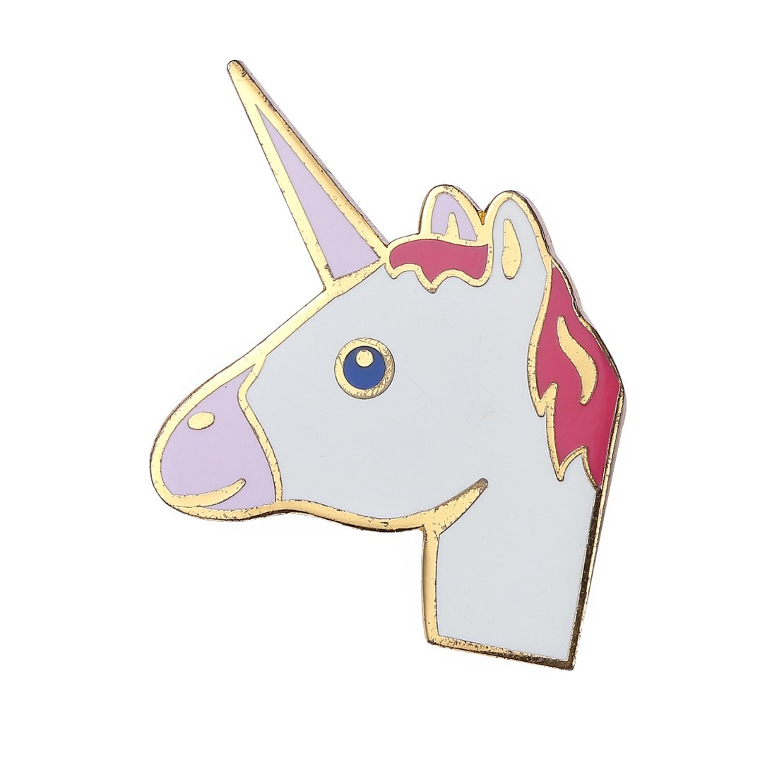 Last Valentine Unicorn Lapel Pin Pink and White Enamel Pin