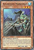 Yu-Gi-Oh! is a strategic trading card game in which two players Duel each other using a variety of Monster, Spell, and Trap Cards to defeat their opponent's monsters and be the first to drop the other's Life Points to 0.Card Name: Atlantean MarksmanC...