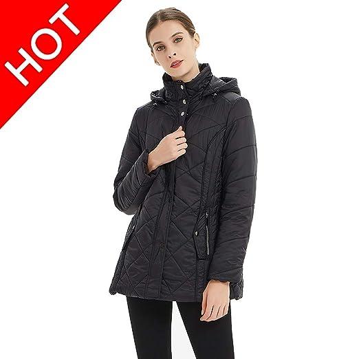 66662237721 Plusfeel Women s Ladies Travelling Long Sleeve Winter Outwear Packable Warm  Ultra Lightweight Zipout Hooded Long Jacket