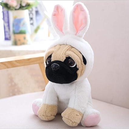 JEWH The Sharpei Turned Dog Doll - Plush Toy hat Dog Doll - Simulation belldog -