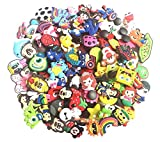 YAOYAO Different 100 Pcs PVC Shoe Charms for Croc  and Jibbitz