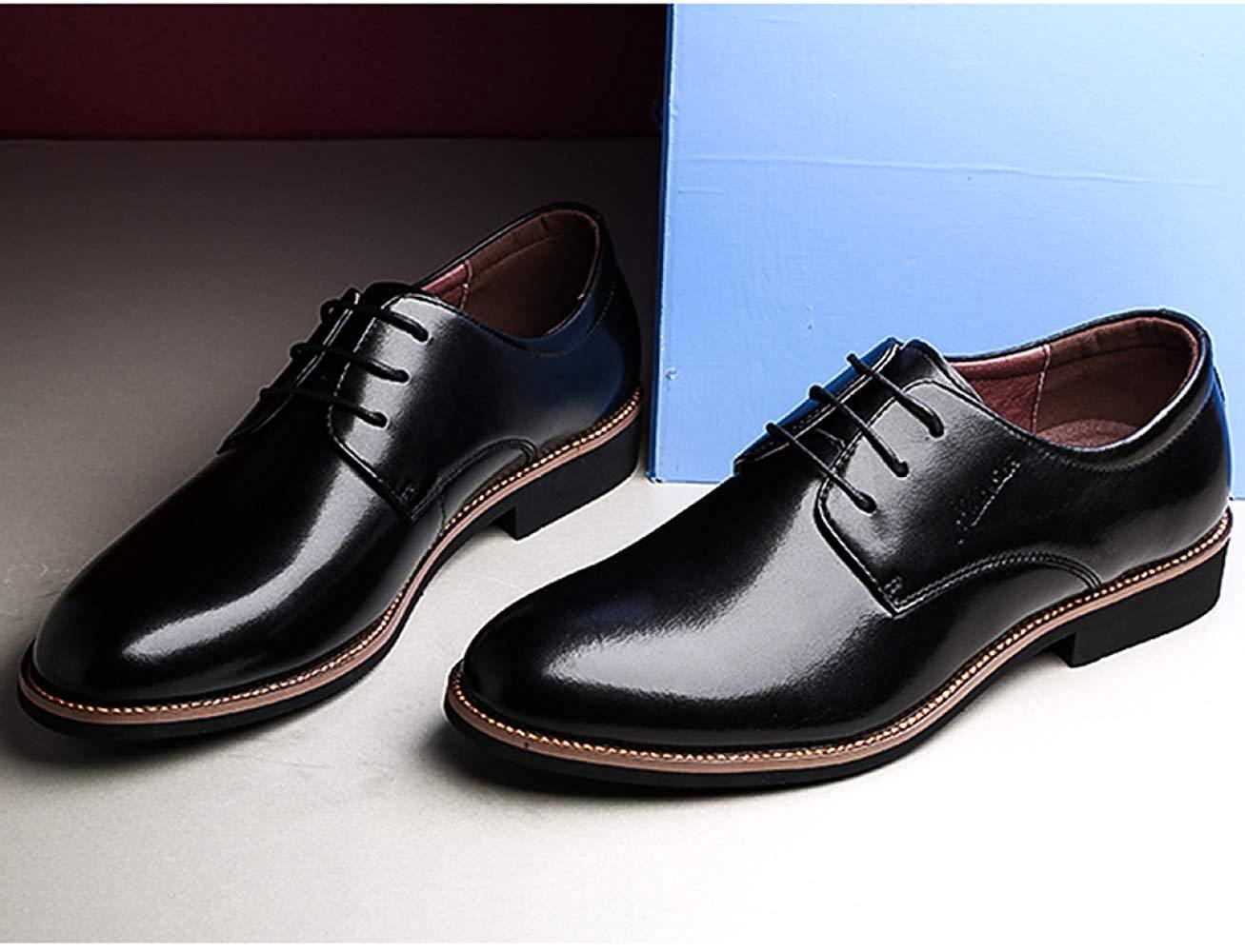 HhGold Männer Schnüren Sich Oben Oxford-Schuhe Oxford-Schuhe Oxford-Schuhe Business Casual Schuhe Tooling Schuhe (Farbe   Schwarz, Größe   38EU) 12085e
