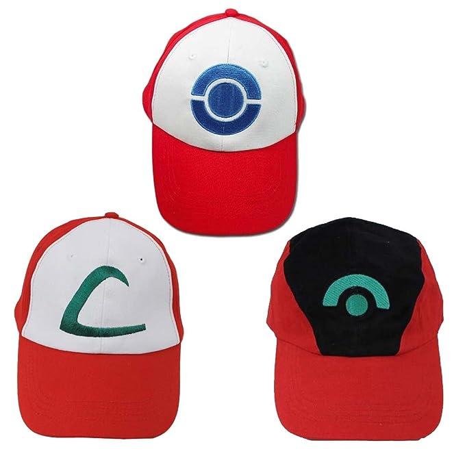 Pokemon Ash Ketchum Gorra para disfraz Cosplay
