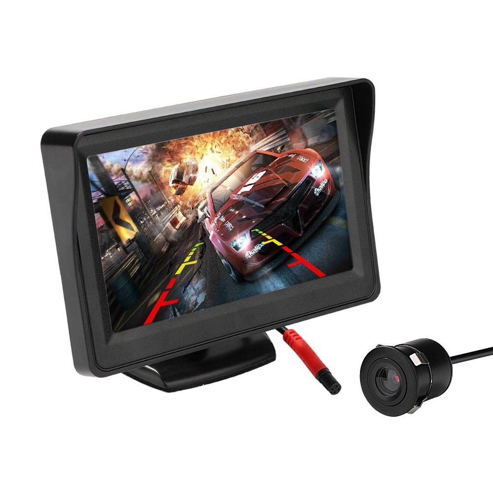 MiCarBa cámara de marcha atrás y kit de monitor de coche, monitor LCD de 4.3